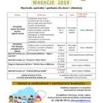 Wakacje 2019 – Wycieczki, spektakle i spotkania dla dzieci i młodzieży