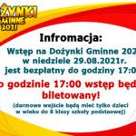 Informacja Dożynki 2021